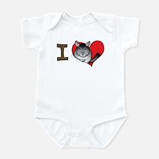 I heart chinchillas Infant Bodysuit