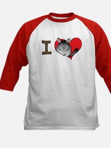I heart chinchillas Kids Baseball Jersey