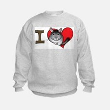 I heart chinchillas Sweatshirt