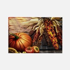 Abundant blessings at Harvest tim Rectangle Magnet
