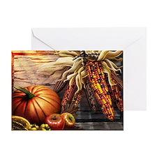 Abundant blessings at Harvest time Greeting Card
