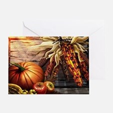 Abundant blessings at Harvest time Greeting Card
