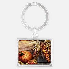Abundant blessings at Harvest t Landscape Keychain