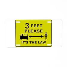 3 Feet Please Aluminum License Plate