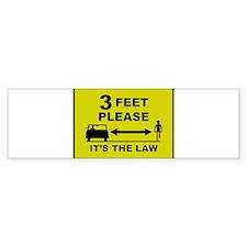3 Feet Please Bumper Bumper Sticker