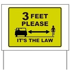 3 Feet Please Yard Sign