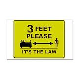 "3 feet law 12"" x 20"""