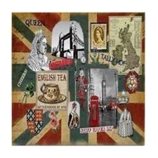 Anglophile's Tile Coaster