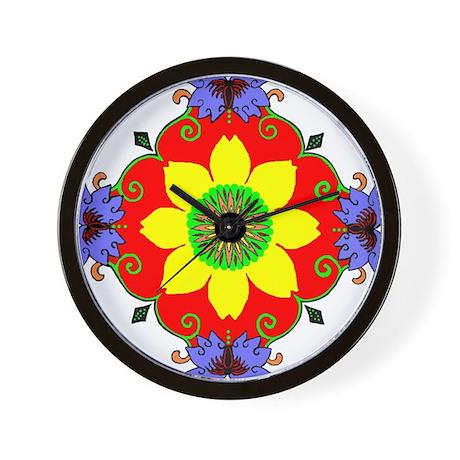 Lotus Mandala Wall Clock By Redqueenself