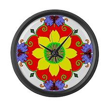 Lotus Mandala Large Wall Clock