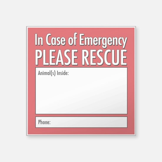Emergency Animal Rescue Sticker