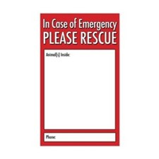Emergency Animal Rescue Stickers