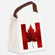 Canadian Flag Souvenir Canvas Lunch Bag