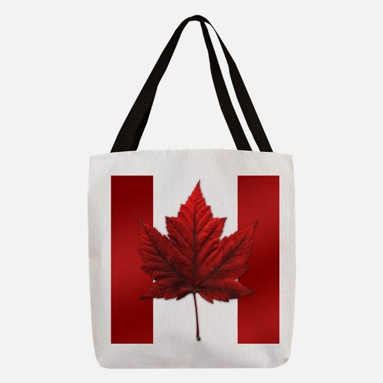 Canadian Flag Souvenir Polyester Tote Bag