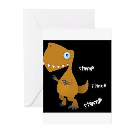 dark stompy Dino, Greeting Cards (Pk of 10)