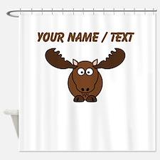Custom Cartoon Moose Shower Curtain
