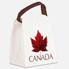 Canada Flag Maple Leaf Canvas Lunch Bag