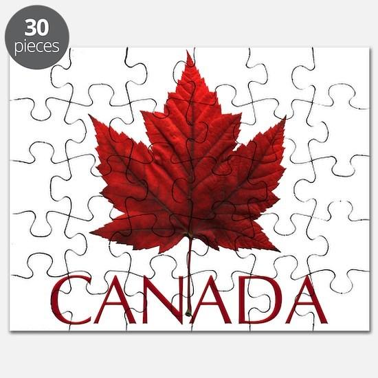 Canada Flag Maple Leaf Puzzle