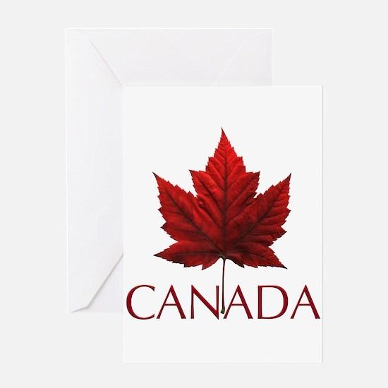 Canada Flag Maple Leaf Greeting Cards