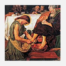 Jesus Washing Peter's Feet, Religious Tile Coaster