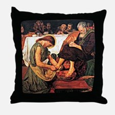 Jesus Washing Peter's Feet, Religious Throw Pillow