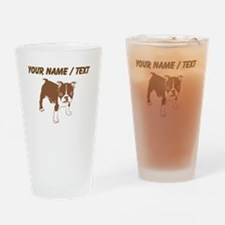 Custom Brown Boxer Puppy Drinking Glass