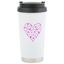 Breast Cancer Pink Ribbon Travel Mug