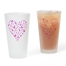 Breast Cancer Pink Ribbon Drinking Glass