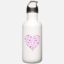 Breast Cancer Pink Ribbon Water Bottle