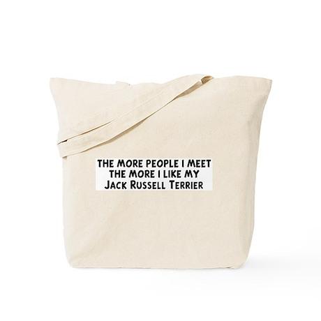 Jack Russell Terrier: people Tote Bag