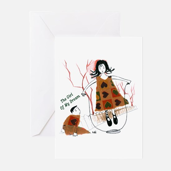 Girl Of My Dream Greeting Cards (Pk of 10)