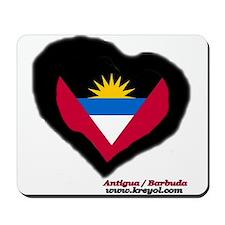 Antigua and Barbuda Heart Mousepad