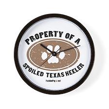 Texas Heeler dog Wall Clock