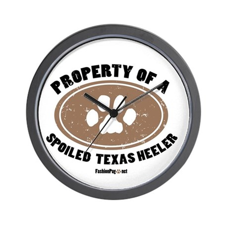 Texas Heeler dog Wall Clock