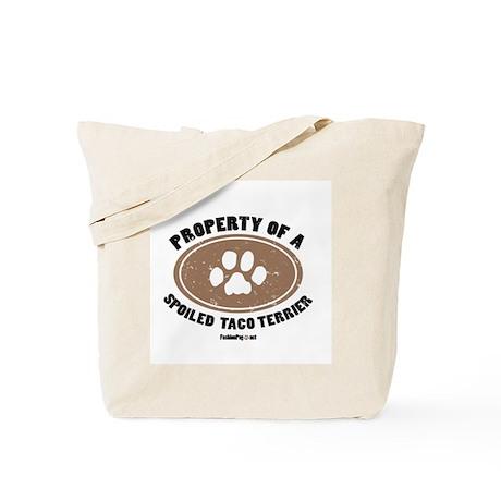 Taco Terrier dog Tote Bag