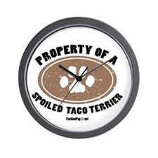 Taco Terrier dog Wall Clock