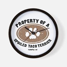 Taco Terrier dog Wall Clock