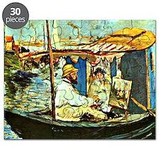 Monet in his Floating Studio  Puzzle