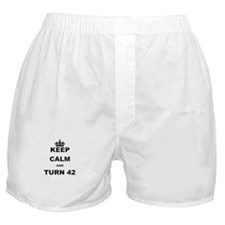 KEEP CALM AND TURN 42 Boxer Shorts