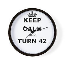 KEEP CALM AND TURN 42 Wall Clock