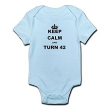 KEEP CALM AND TURN 42 Body Suit