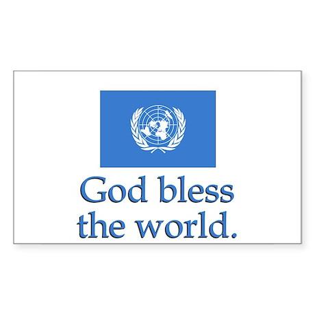 """""""God Bless the World"""" Sticker"""