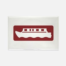 Canal-side Attraction, UK Rectangle Magnet (100 pa