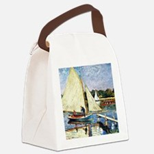 Monet: Boaters at Argenteuil Canvas Lunch Bag