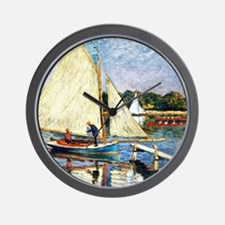 Monet: Boaters at Argenteuil Wall Clock
