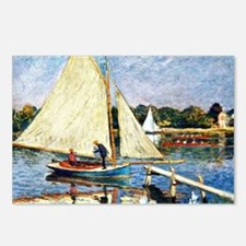 Monet: Boaters at Argente Postcards (Package of 8)