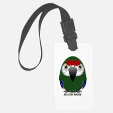 Military Macaw Luggage Tag
