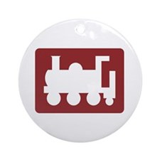 Tourist Railway, UK Ornament (Round)