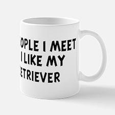 Golden Retriever: people I me Mug