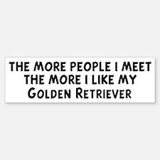 Golden Retriever: people I me Bumper Bumper Bumper Sticker